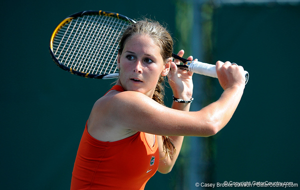 The University of Florida women's tennis team competes on the second day of the annual Gator Invitational in Gainesville, Fla. on Saturday, September 26, 2009. / Gator Country photo by Casey Brooke Lawson