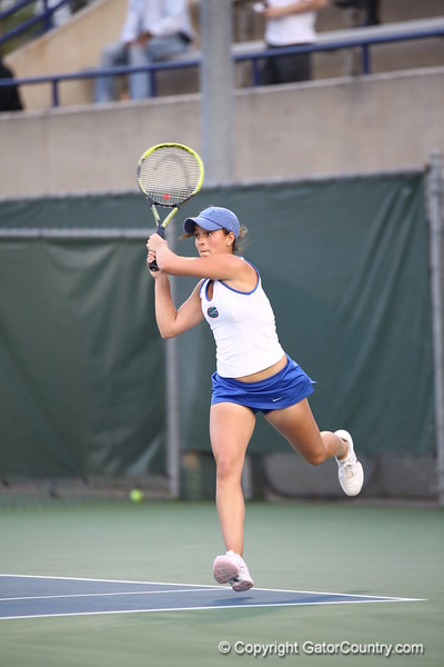 Sofie Oyen during Florida's 4-1 win over Alabama on March 22, 2013 in Gainesville, Florida