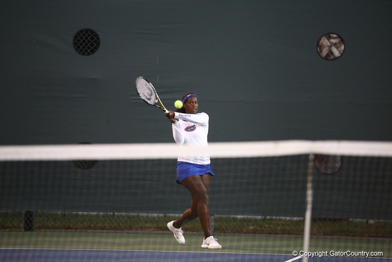 Caroline Hitimana during Florida's 4-1 win over Alabama on March 22, 2013 in Gainesville, Florida