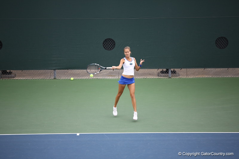 Olivia Janowicz during Florida's 4-1 win over Alabama on March 22, 2013 in Gainesville, Florida