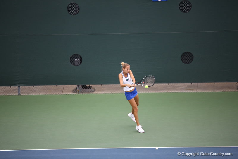Olivia Janoqwicz during Florida's 4-1 win over Alabama on March 22, 2013 in Gainesville, Florida