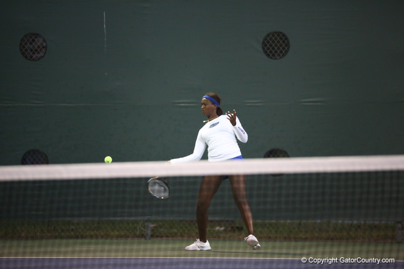 Caroine Hitimana during Florida's 4-1 win over Alabama on March 22, 2013 in Gainesville, Florida