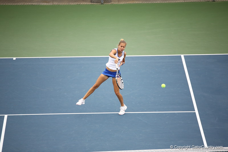 Oivia Janowicz during Florida's 4-1 win over Alabama on March 22, 2013 in Gainesville, Florida