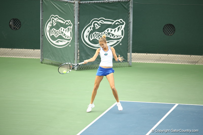 livia Janowicz during Florida's 4-1 win over Alabama on March 22, 2013 in Gainesville, Florida