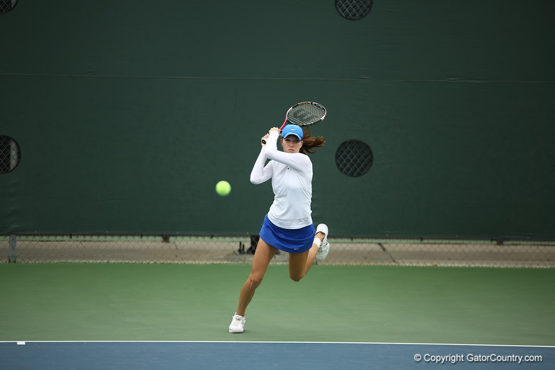 Danielle Collins during Florida's 4-1 win over Alabama on March 22, 2013 in Gainesville, Florida