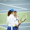 Sofie Oyen and Danielle Collins during Florida's 4-1 win over Alabama on March 22, 2013 in Gainesville, Florida