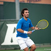 Florida senior Nassim Slilam during the Gators' 7-0 win against the Auburn Tigers on Friday, March 30, 2012 at the Alfred A Ring Tennis Complex in Gainesville, Fla. / Gator Country photo by Saj Guevara