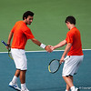 Florida junior Billy Federhofer with teammate Nassim Slilam during the Gators' 7-0 win against the Auburn Tigers on Friday, March 30, 2012 at the Alfred A Ring Tennis Complex in Gainesville, Fla. / Gator Country photo by Saj Guevara
