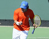 Florida junior Nassim Slilam celebrates a doubles point during the No. 9-ranked Gators' 5-2 win against the No. 7-ranked Baylor Bears on Sunday, January 23, 2011 at Linder Stadium at Ring Tennis Complex in Gainesville, Fla. / Gator Country photo by Tim Casey