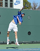Florida sophomore Bob van Overbeek serves during the No. 9-ranked Gators' 5-2 win against the No. 7-ranked Baylor Bears on Sunday, January 23, 2011 at Linder Stadium at Ring Tennis Complex in Gainesville, Fla. / Gator Country photo by Tim Casey