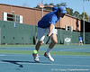 Florida sophomore Bob van Overbeek misses the ball during the No. 9-ranked Gators' 5-2 win against the No. 7-ranked Baylor Bears on Sunday, January 23, 2011 at Linder Stadium at Ring Tennis Complex in Gainesville, Fla. / Gator Country photo by Tim Casey