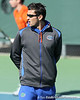 Florida assistant men's tennis coach Jeremy Bayon looks on during the No. 9-ranked Gators' 5-2 win against the No. 7-ranked Baylor Bears on Sunday, January 23, 2011 at Linder Stadium at Ring Tennis Complex in Gainesville, Fla. / Gator Country photo by Tim Casey