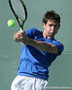 Florida sophomore Billy Federhofer returns a volley during the No. 9-ranked Gators' 5-2 win against the No. 7-ranked Baylor Bears on Sunday, January 23, 2011 at Linder Stadium at Ring Tennis Complex in Gainesville, Fla. / Gator Country photo by Tim Casey