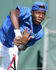 Florida sophomore Sekou Bangoura, Jr. serves during the No. 9-ranked Gators' 5-2 win against the No. 7-ranked Baylor Bears on Sunday, January 23, 2011 at Linder Stadium at Ring Tennis Complex in Gainesville, Fla. / Gator Country photo by Tim Casey