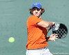 Florida freshman Andrew Butz returns a volley during the No. 9-ranked Gators' 5-2 win against the No. 7-ranked Baylor Bears on Sunday, January 23, 2011 at Linder Stadium at Ring Tennis Complex in Gainesville, Fla. / Gator Country photo by Tim Casey