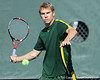 Baylor senior Jordan Rux returns a volley during the No. 9-ranked Gators' 5-2 win against the No. 7-ranked Baylor Bears on Sunday, January 23, 2011 at Linder Stadium at Ring Tennis Complex in Gainesville, Fla. / Gator Country photo by Tim Casey