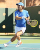 Florida junior Nassim Slilam runs to the ball during the No. 9-ranked Gators' 5-2 win against the No. 7-ranked Baylor Bears on Sunday, January 23, 2011 at Linder Stadium at Ring Tennis Complex in Gainesville, Fla. / Gator Country photo by Tim Casey