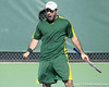 Baylor senior Sergio Ramirez celebrates a doubles point during the No. 9-ranked Gators' 5-2 win against the No. 7-ranked Baylor Bears on Sunday, January 23, 2011 at Linder Stadium at Ring Tennis Complex in Gainesville, Fla. / Gator Country photo by Tim Casey