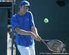 Florida sophomore Bob van Overbeek returns a volley during the No. 9-ranked Gators' 5-2 win against the No. 7-ranked Baylor Bears on Sunday, January 23, 2011 at Linder Stadium at Ring Tennis Complex in Gainesville, Fla. / Gator Country photo by Tim Casey