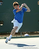 Florida sophomore Billy Federhofer follows through on a volley during the No. 9-ranked Gators' 5-2 win against the No. 7-ranked Baylor Bears on Sunday, January 23, 2011 at Linder Stadium at Ring Tennis Complex in Gainesville, Fla. / Gator Country photo by Tim Casey