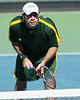 Baylor senior Sergio Ramirez prepares for a serve during the No. 9-ranked Gators' 5-2 win against the No. 7-ranked Baylor Bears on Sunday, January 23, 2011 at Linder Stadium at Ring Tennis Complex in Gainesville, Fla. / Gator Country photo by Tim Casey