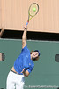 Florida freshman Andrew Butz serves during the No. 9-ranked Gators' 5-2 win against the No. 7-ranked Baylor Bears on Sunday, January 23, 2011 at Linder Stadium at Ring Tennis Complex in Gainesville, Fla. / Gator Country photo by Tim Casey