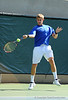 Joseph Burkhardt of the University of Florida men's tennis team competes in the NCAA men's championship on Friday, May 8, 2009 in Gainesville, Fla. at the Ring Tennis Complex. / Gator Country photo by Casey Brooke Lawson