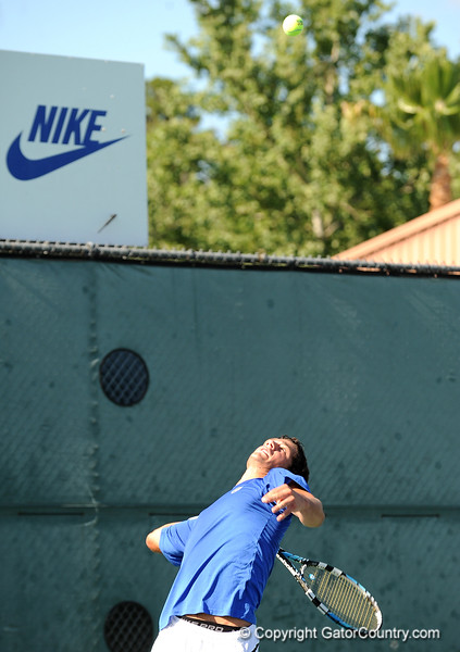Alex Lacroix of the University of Florida men's tennis team competes in the NCAA men's championship on Friday, May 8, 2009 in Gainesville, Fla. at the Ring Tennis Complex. / Gator Country photo by Casey Brooke Lawson