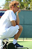 Jeremy Bayon of the University of Florida men's tennis team coaches in the NCAA men's championship on Friday, May 8, 2009 in Gainesville, Fla. at the Ring Tennis Complex. / Gator Country photo by Casey Brooke Lawson