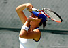 Freshman Jessica Alexander of the University of Florida women's tennis team compete in the NCAA women's tournament on Saturday, May 9, 2009 against the University of Charleston in Gainesville, Fla. at the Ring Tennis Complex. / Gator Country photo by Casey Brooke Lawson