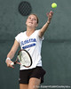 photo by Tim Casey<br /> <br /> Florida junior Marrit Boonstra competes during the No. 7-ranked Gators' 6-1 win against the Stetson Hatters on Tuesday, January 27, 2009 at Linder Stadium in Gainesville, Fla.