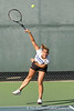 photo by Tim Casey<br /> <br /> Florida junior Megan Alexander competes during the No. 7-ranked Gators' 6-1 win against the Stetson Hatters on Tuesday, January 27, 2009 at Linder Stadium in Gainesville, Fla.