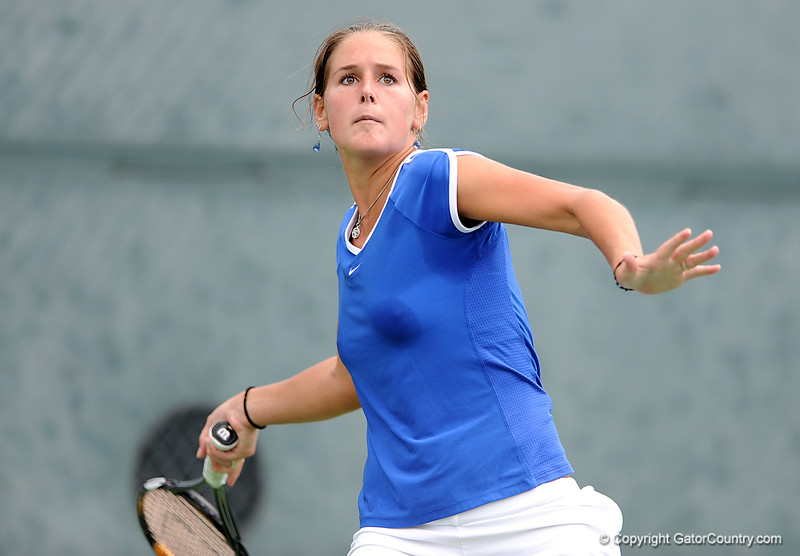 The University of Florida women's tennis team competes against the University of South Carolina on Saturday, April 18, 2009 in Gainesville, Fla. / Gator Country photo by Casey Brooke Lawson