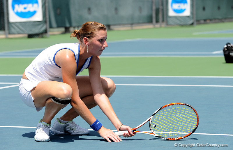Junior Marrit Boonstra of the University of Florida women's tennis team competes in the NCAA women's tournament on Sunday, May 10, 2009 against the Florida State University in Gainesville, Fla. at the Ring Tennis Complex. / Gator Country photo by Casey Brooke Lawson