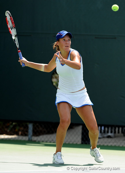 Freshman Barbara Pinterova of the University of Florida women's tennis team competes in the NCAA women's tournament on Sunday, May 10, 2009 against the Florida State University in Gainesville, Fla. at the Ring Tennis Complex. / Gator Country photo by Casey Brooke Lawson