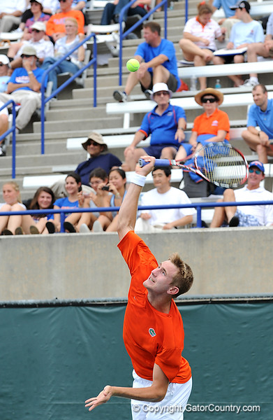 University of Florida men's tennis team competes against University of Arkansas at Linder Stadium at Ring Tennis Complex on Sunday, April 5, 2009 in Gainesville, Fla. / Gator Country photo by Casey Brooke Lawson