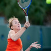Florida junior Lauren Embree hits a forehand during the Gators' 7-0 win against the FSU Seminoles on Wednesday, February 29, 2012 at the Alfred A Ring Tennis Complex in Gainesville, Fla. / Gator Country photo by Saj Guevara