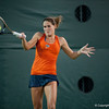 Florida senior Joanna Mather hits a forehand during the Gators' 7-0 win against the FSU Seminoles on Wednesday, February 29, 2012 at the Alfred A Ring Tennis Complex in Gainesville, Fla. / Gator Country photo by Saj Guevara