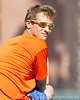 Florida assistant men's tennis coach Jeremy Bayon watches during the Gators' 4-0 win against the Arkansas Razorbacks in the first round of the SEC tournament on Thursday, April 21, 2011 at Linder Stadium at Ring Tennis Complex in Gainesville, Fla. / Gator Country photo by Tim Casey