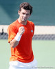 Florida senior Alexandre Lacroix celebrates a point during the Gators' 4-0 win against the Arkansas Razorbacks in the first round of the SEC tournament on Thursday, April 21, 2011 at Linder Stadium at Ring Tennis Complex in Gainesville, Fla. / Gator Country photo by Tim Casey