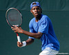 Florida sophomore Sekou Bangoura, Jr. waits for the ball during the Gators' 4-0 win against the Arkansas Razorbacks in the first round of the SEC tournament on Thursday, April 21, 2011 at Linder Stadium at Ring Tennis Complex in Gainesville, Fla. / Gator Country photo by Tim Casey