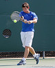 Florida sophomore Billy Federhofer swings at the ball during the Gators' 4-0 win against the Arkansas Razorbacks in the first round of the SEC tournament on Thursday, April 21, 2011 at Linder Stadium at Ring Tennis Complex in Gainesville, Fla. / Gator Country photo by Tim Casey
