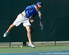 Florida sophomore Bob van Overbeek serves during the Gators' 4-0 win against the Arkansas Razorbacks in the first round of the SEC tournament on Thursday, April 21, 2011 at Linder Stadium at Ring Tennis Complex in Gainesville, Fla. / Gator Country photo by Tim Casey