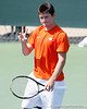 Florida sophomore Billy Federhofer calls for a ball during the Gators' 4-0 win against the Arkansas Razorbacks in the first round of the SEC tournament on Thursday, April 21, 2011 at Linder Stadium at Ring Tennis Complex in Gainesville, Fla. / Gator Country photo by Tim Casey