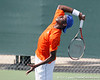 Florida sophomore Sekou Bangoura, Jr. serves during the Gators' 4-0 win against the Arkansas Razorbacks in the first round of the SEC tournament on Thursday, April 21, 2011 at Linder Stadium at Ring Tennis Complex in Gainesville, Fla. / Gator Country photo by Tim Casey