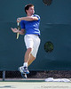 Florida sophomore Billy Federhofer follows through on a swing during the Gators' 4-0 win against the Arkansas Razorbacks in the first round of the SEC tournament on Thursday, April 21, 2011 at Linder Stadium at Ring Tennis Complex in Gainesville, Fla. / Gator Country photo by Tim Casey