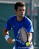 Florida senior Alexandre Lacroix serves during the Gators' 4-0 win against the Arkansas Razorbacks in the first round of the SEC tournament on Thursday, April 21, 2011 at Linder Stadium at Ring Tennis Complex in Gainesville, Fla. / Gator Country photo by Tim Casey