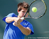 Florida sophomore Billy Federhofer focuses on the ball during the Gators' 4-0 win against the Arkansas Razorbacks in the first round of the SEC tournament on Thursday, April 21, 2011 at Linder Stadium at Ring Tennis Complex in Gainesville, Fla. / Gator Country photo by Tim Casey