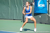 Florida junior Joanna Mather eyes the ball during the Gators' 4-3 win against top-seeded Stanford to win the 2011 NCAA Championship on Tuesday at Taube Tennis Stadium on the campus of Stanford University in Palo Alto, Calif. / UF Communications photo by Kathy Cafazzo