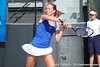 Florida sophomore Lauren Embree follows through on a swing during the Gators' 4-3 win against top-seeded Stanford to win the 2011 NCAA Championship on Tuesday at Taube Tennis Stadium on the campus of Stanford University in Palo Alto, Calif. / UF Communications photo by Kathy Cafazzo